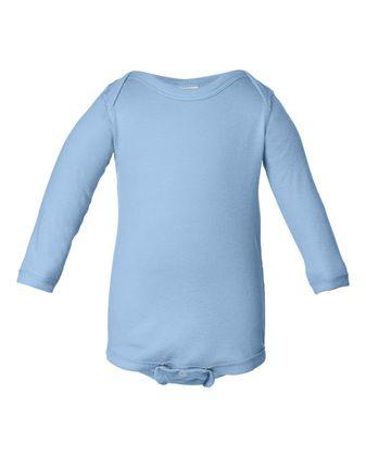 Rabbit Skins Infant Long Sleeve Baby Rib Bodysuit 4411