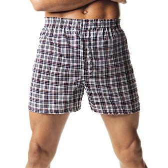 Hanes ComfortSoft TAGLESS Men\'s Tartan Boxers 2-Pack 833P2