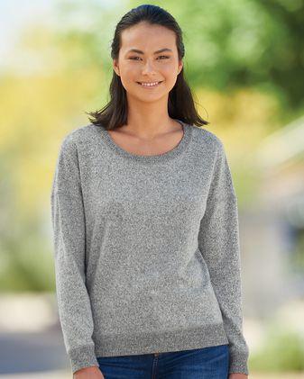J. America Women\'s Cozy Jersey Crewneck Sweatshirt 8658