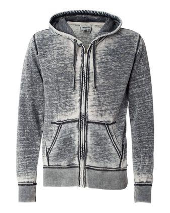 J. America Vintage Zen Fleece Full-Zip Hooded Sweatshirt 8916