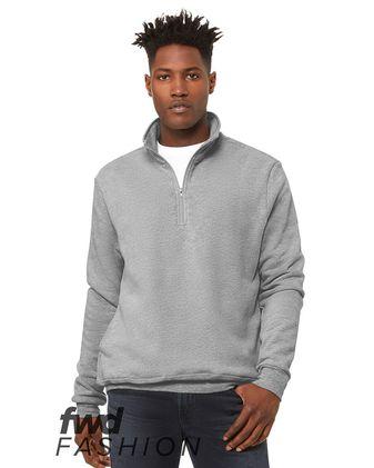 BELLA + CANVAS Fashion Unisex Quarter Zip Pullover Fleece 3740