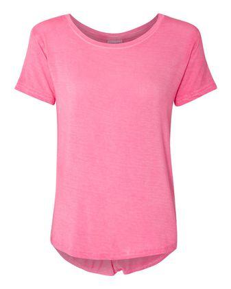 J. America Women\'s Oasis Wash Drop Tail T-Shirt 8127