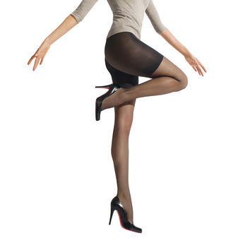 HUE Sleek Control Top Shaper Pantyhose U6477N