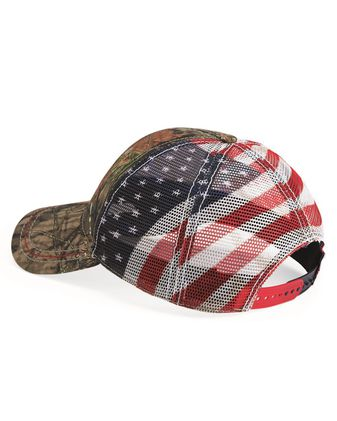 Outdoor Cap Camo Cap with American Flag Mesh Back CWF400M