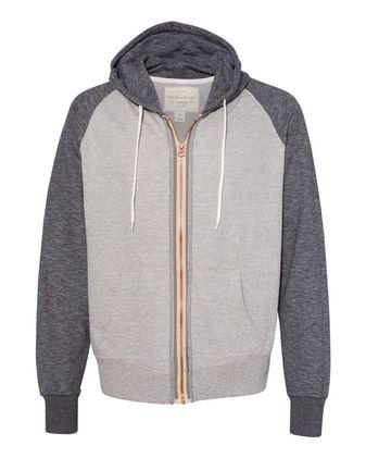 Weatherproof Marled Raglan Full-Zip Sweatshirt 198774