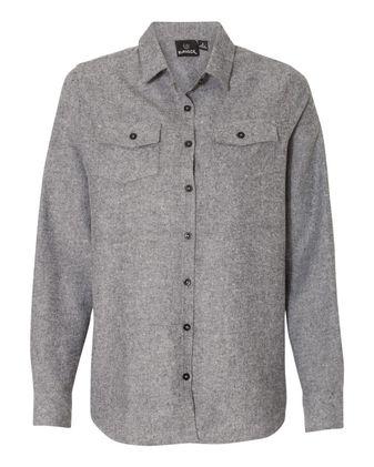 Burnside Women\'s Long Sleeve Solid Flannel Shirt 5200