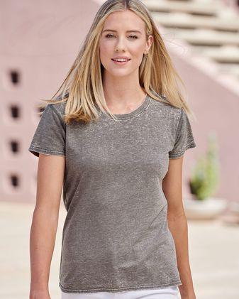 J. America Women\'s Zen Jersey Short Sleeve T-Shirt 8116