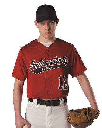 Alleson Athletic Youth Dura Light Mesh Baseball Jersey A00020