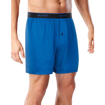 Hanes Men\'s FreshIQ Cool Comfort Breathable Mesh Boxer Briefs 4-Pack LBMKC4