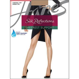 Hanes Silk Reflections Sheerest Support Control Top Sheer Toe 0B750