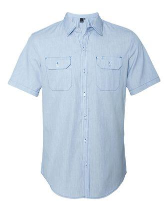 Burnside Dobby-Stripe Short Sleeve Shirt 9265