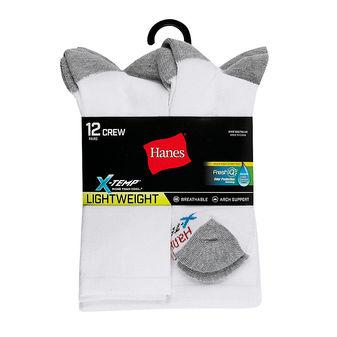 Hanes Men\'s FreshIQ™ X-Temp® Crew Socks 12-Pack LTAC18