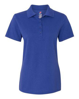Hanes Women\'s X-Temp Pique Sport Shirt with Fresh IQ 035P