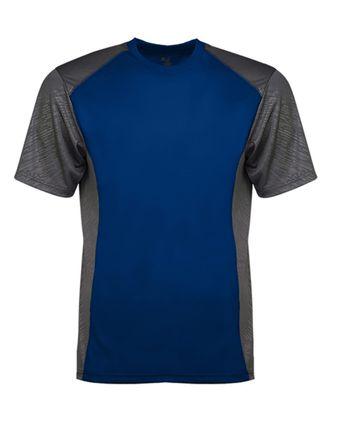 Badger Line Embossed Colorblock T-Shirt 4158