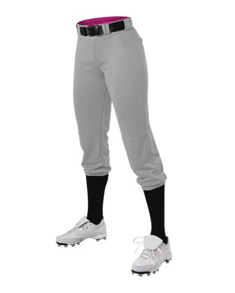 Alleson Athletic Women\'s Belted Speed Premium Fastpitch Pant A00280