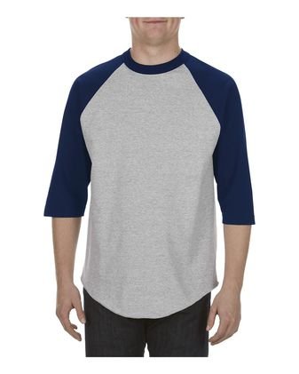 ALSTYLE Classic Raglan Three-Quarter Sleeve T-Shirt 1334