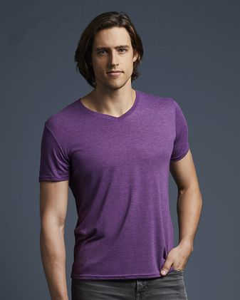 Anvil Triblend V-Neck T-Shirt 6752
