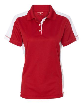 FeatherLite Women\'s Colorblocked Moisture Free Mesh Sport Shirt 5465