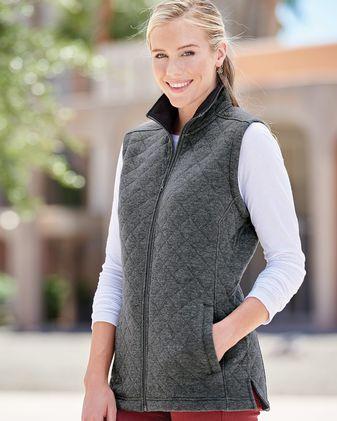 J. America Women\'s Quilted Full-Zip Vest 8892