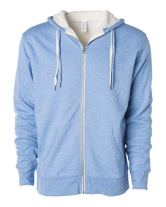 Independent Trading Co. Unisex Sherpa-Lined Hooded Sweatshirt EXP90SHZ