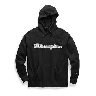 Champion Women\'s Powerblend Fleece Pullover Hoodie, Chainstitch Logo GF934 Y07970