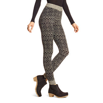 HUE Fairisle Sweater Leggings U18056