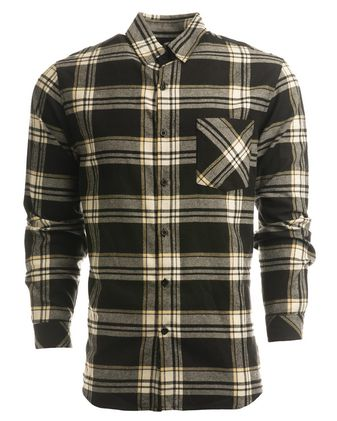 Burnside Open Pocket Long Sleeve Flannel Shirt 8212