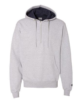 Champion Cotton Max Hooded Quarter-Zip Sweatshirt S185