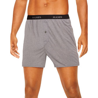 Hanes Classics Men\'s TAGLESS® ComfortSoft® Knit Boxers with Comfort Flex® Waistband 5-Pack 709BP5