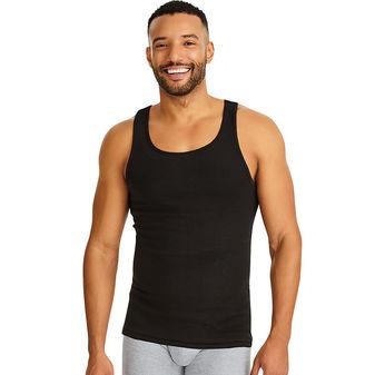 Hanes Classics Men\'s TAGLESS® ComfortSoft® Dyed A-Shirt 4-Pack 7993BG