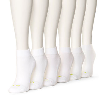 HUE Women\'s Quarter Top Sock with Cushion, 6-Pack U7156