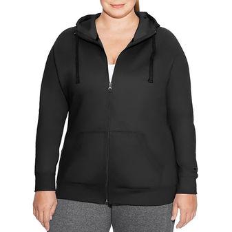 Champion Women Plus Fleece Full Zip Hoodie QJ4853