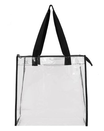 OAD OAD Clear Zippered Tote with Full Gusset OAD5006