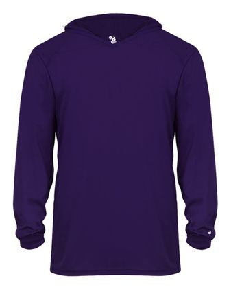 Badger Youth B-Core Long Sleeve Hooded T-Shirt 2105