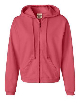 Comfort Colors Women\'s Garment-Dyed Full-Zip Hooded Sweatshirt 1598