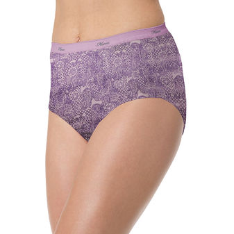 Hanes Women\'s No Ride Up Cotton Brief 6-Pack PP40LC