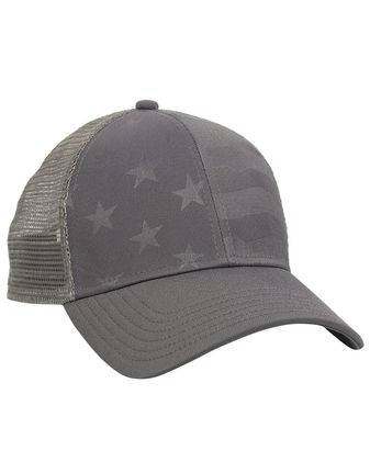 Outdoor Cap Debossed Stars and Stripes Mesh-Back Cap USA750M