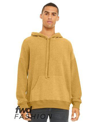 BELLA + CANVAS Fashion Unisex Sueded Fleece Hoodie 3329