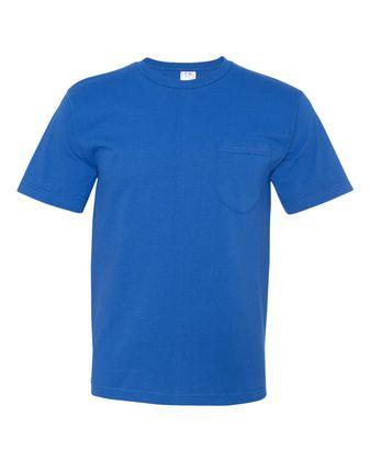 Bayside USA-Made Short Sleeve T-Shirt With a Pocket 5070