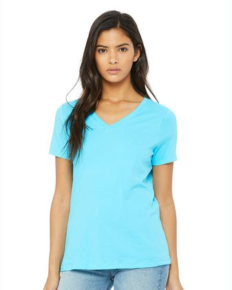 BELLA + CANVAS Women\'s Relaxed Jersey V-Neck Tee 6405