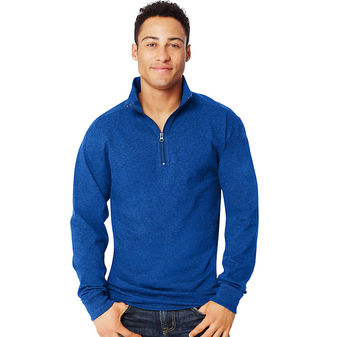 Hanes X-Temp Mens 1/4 Zip Long-Sleeve T-Shirt O5944
