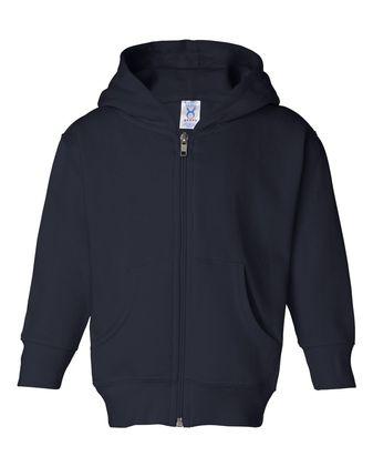 Rabbit Skins Toddler Full-Zip Fleece Hooded Sweatshirt 3346