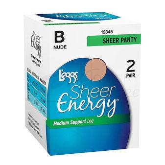 Leggs Sheer Energy All Sheer 2-Pk Pantyhose 30800