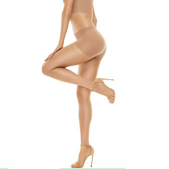 Hanes Perfect Nudes Run Resistant Tummy Control Girl Short Hosiery PN0001
