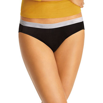 Hanes Cool Comfort™ Women\'s Cotton Sporty Bikini 6-Pack P642SC