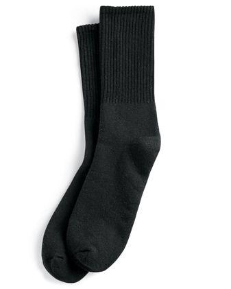 SOCCO USA-Made Solid Crew Socks SC200