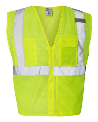 ML Kishigo Clear ID Vest with Zipper Closure 1532-1533