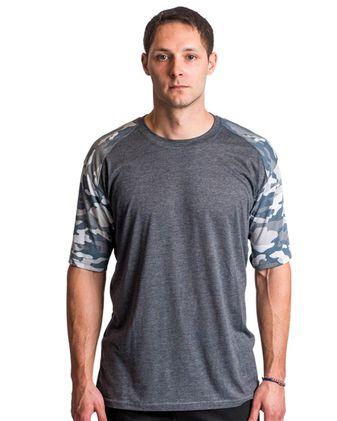 Badger Vintage Camo Sport Triblend T-Shirt 4970
