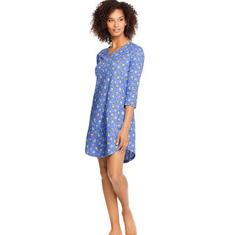 Hanes Women\'s Knit V-Neck Sleepshirt HAC80119