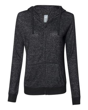 J. America Women\'s Cozy Jersey Full-Zip Hooded Sweatshirt 8656